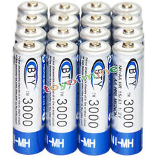 16x AA battery batteries Bulk Nickel Hydride Rechargeable NI-MH 3000mAh 1.2V BTY