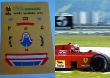 DECALS KIT 1/12 HELMET CASCO NIGEL MANSEL FERRARI F1 FDS AUTOMODELLI