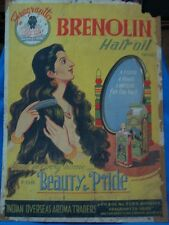 Old Vintage Paper Color Painting's of Hair Oil co. Advertisement from India 1950