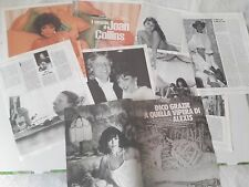 JOAN COLLINS_Alexis Colby_1982-1988_ritagli_clippings_lotto articoli/immagini