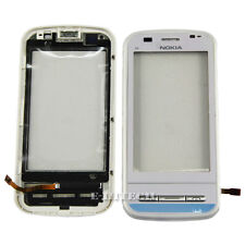 Nokia C6 with White Frame Digitizer Touch Screen Glass Lens C6-00 Replacement
