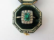 Splendido antico Art DECO 9ct ORO SMERALDO SPINELLO Diamond PASTA Cocktail Anello