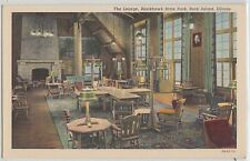 Illinois Il Postcard Old ROCK ISLAND Blackhawk State Park THE LOUNGE Interior