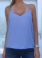 Asos ladies light blue summer camisole tank top, size 8