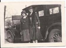 Women standing in front of vintage car - Unknown Make and Model c. 1920