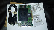 Matrox G450 PCI QUAD 128MB Video Card G45X4QUAD-B 1xdual DVI cable 2xVGA adpter