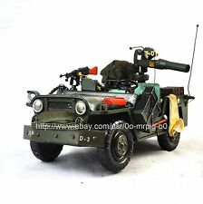 Handmade World War II Jeep Willys Military Vehicle 1:12 Antique Style Metal Mode