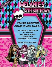 10 MONSTER HIGH BIRTHDAY PARTY INVITATIONS OR THANK YOU CARDS  W / ENVELOPES
