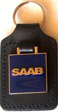 Saab Key Ring - badge mounted on a leather fob