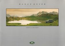 Range Rover Safety & Security 1992-93 UK Market Sales Brochure Vogue SE LSE