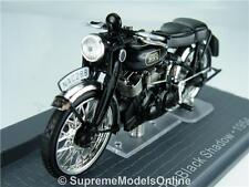 VINCENT BLACK SHADOW MOTORBIKE 1/24 SCALE MODEL 1950'S CLASSIC EXAMPLE T3412Z(=)