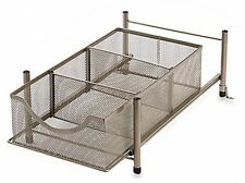 ORG Medium Under the Sink Mesh Slide Out Cabinet Kitchen Storage Shelf Basket