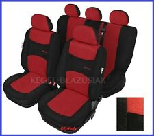 Red Sport Line Tailored Full Set Seat Car Covers for Renault Clio Mk2 1998 -2005