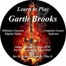 Garth Brooks Guitar TABS Lesson CD 85 Songs + Backing Track + BONUS