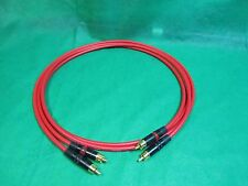 3 Ft Pair Canare L4E6S Red Star Quad RCA to RCA HIFI Audio Cable.