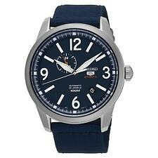 SEIKO MEN'S 5 SPORTS 45MM BLUE CLOTH BAND STEEL CASE AUTOMATIC WATCH SSA301