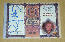 2015 Upper Deck Firefly on-card autograph Gregg Henry as SHERIFF BOURNE GH