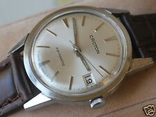 Nice Vintage Croton Stainless Steel 17J Aquamatic Men's Watch w/Date
