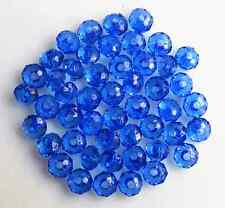 200Pcs 6mm Dark Blue Rondelle Bicone Acrylic Jewelry Spacer Loose Beads