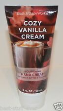 BATH & BODY WORKS COZY VANILLA CREAM NOURISHING HAND CREAM LOTION SHEA BUTTER