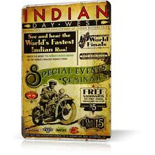 METAL TIN SING INDIAN MOTORCYCLE POSTER Retro Vintage Decor Garage Wall Bar Pub