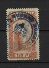 Canada Used Revenue Quebec Law Stamp with nice 1883 CDS cancel 10 cent E080