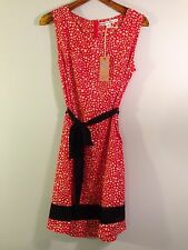 Brand-New (NWT) Red Dress w/White Spots, Black Trim by Brooklyn Industries, XL