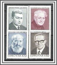 Faroe Islands #175-178 Writers MNH