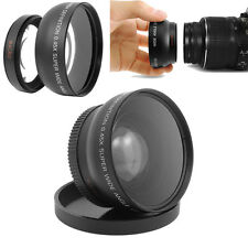 52mm Digital 0.45X Super Wide Angle Fisheye Lens Macro for Canon Nikon 18-55MM