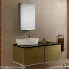 GALAXY LED ILLUMINATED BATHROOM MIRROR CABINET INFRA-RED SENSOR SHAVER SOCKET