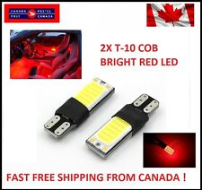 2PCS RED T10 W5W 194 168  LED No Error COB Canbus Side Lamp Wedge Light BRIGHT