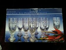 Godinger Shannon Crystal OLYMPIA All Purpose/Iced Tea Glass Goblets - Set of 8