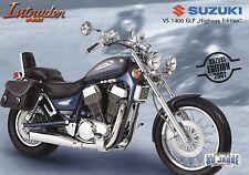 Suzuki Prospekt Intruder VS 1400 GLP Highway Edition 2001 1 01 Motorradprospekt