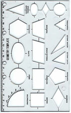 Geometria stencil in plastica modello CON RIGHELLO E FORI PER RACCOGLITORE SCUOLA