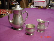 JOSTENS PEWTER TEA SET TEA POT CREAMER SUGAR
