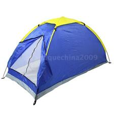 ultra-light 1 Person Camping Tent Single Layer Waterproof Portable Blue E2Y8