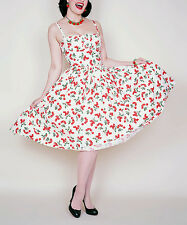 Bernie Dexter White & Red  Cherry Paris  Dress --  Plus Too  Size  S   NWT