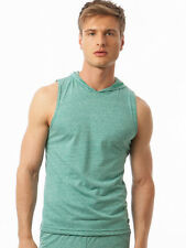 N2N BODYWEAR SALE MEN'S URBAN MUSCLE SLEEVELESS HOODIE HEATHER GREEN  XL
