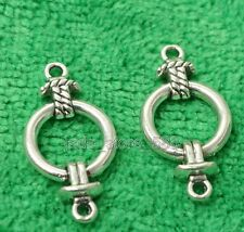 50pcs Tibetan silver charms bail connector beads earrings accessories 25MM