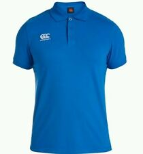 Men's canterbury rugby polo. Blue. Size:SMALL