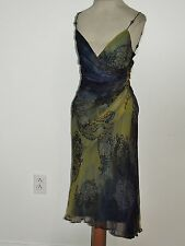 Sexy Laundry Silk Chiffon Bias Cut Dress w Beaded Straps NWT Sz 2 $225