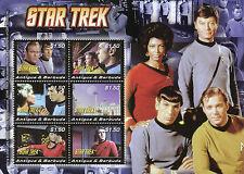 Antigua & Barbuda 2008 MNH Star Trek 6v M/S II Kirk Leonard Nimoy Spock Stamps