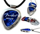 PICKBAY Guitar pick Holder Pendant w black leather necklace Guy gift NEW