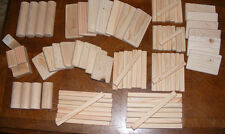 80 Piece Natural Wood Toy Building Blocks - Made in USA