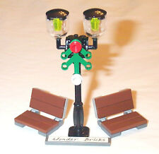 Lego Street Lamp Post & Park Benches 10232 Garden Seat