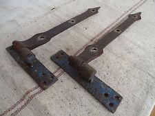 N9033 Sehr alte Türbänder ~ Schmiedeeisen ~ um 1800 ANTIK Beschläge Torbänder