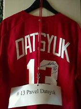 ONE OF A KIND-PAVEL DATSYUK SIGNED GAME USED DETROIT RED WING'S SOFTBALL JERSEY