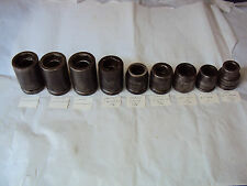 LOT OF 9 HEAVY DUTY  SOCKET . 6p PROTO, 1p MAC , 2p IP [ see photos ]
