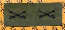 US Army Cavalry Branch OD Green & Black sew on patch set