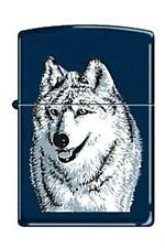 Zippo 7946 wolf navy blue Lighter DISCONTINUED